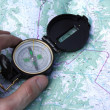 Royalty-Free Stock Photo: Compass on the map