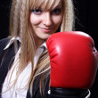 Girl the boxer — Stock Photo