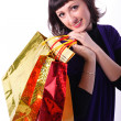 Stock Photo: Woman with bags