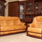Yellow sofa and armchair — Stock Photo