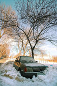 The car under a snow — Stock Photo