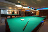 Table for game in billiards — Stock Photo