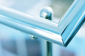 Steel handrail — Stock Photo