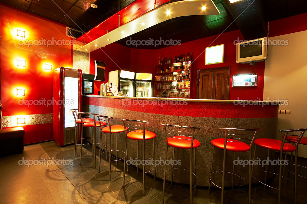 Modern and beautiful bar in a night club  Foto de Stock   #1081687