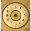Old dial clock — Stock Photo