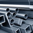 Background metallic pipes — Stock Photo #1045852