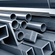 Royalty-Free Stock Photo: Background metallic pipes
