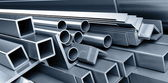 Background metallic pipes — Stock Photo