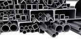 Tubos metálicos — Fotografia Stock