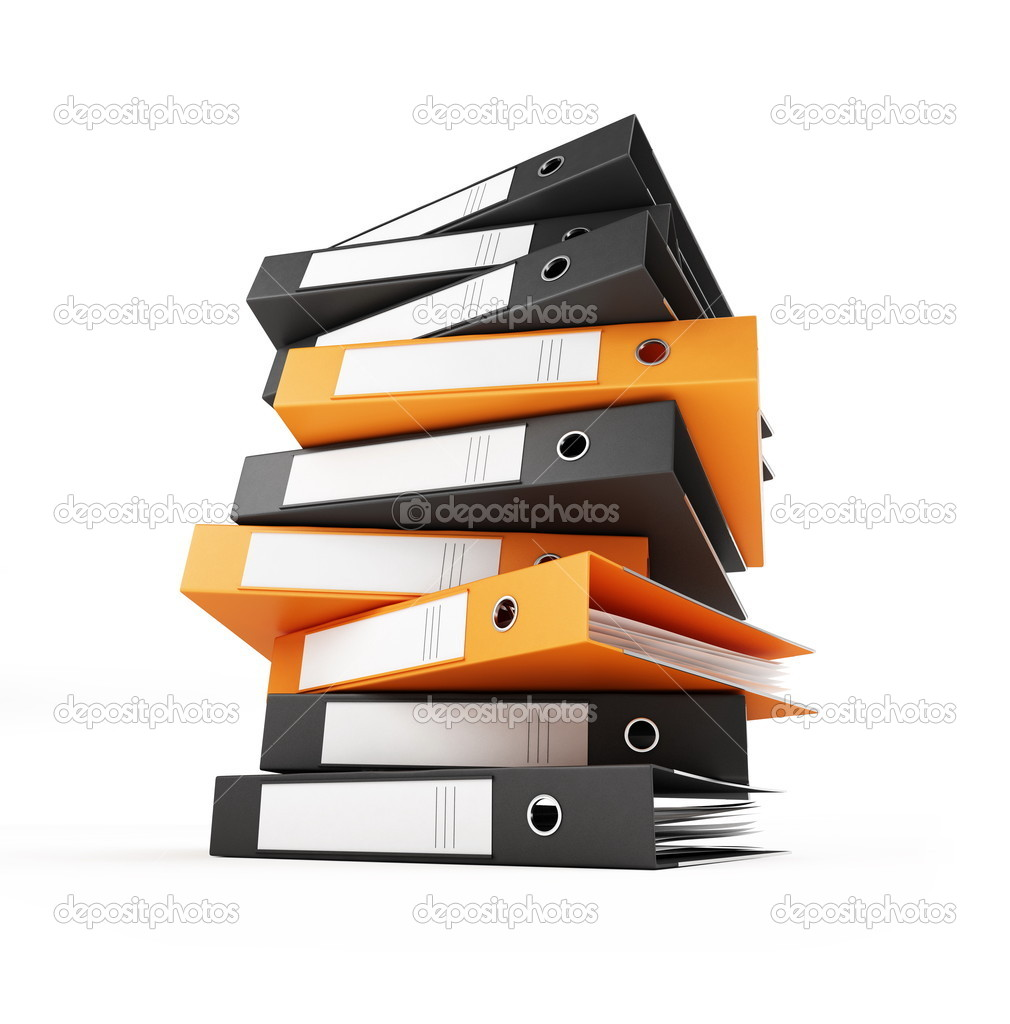 Office folders on a white background  Stock Photo #1052529