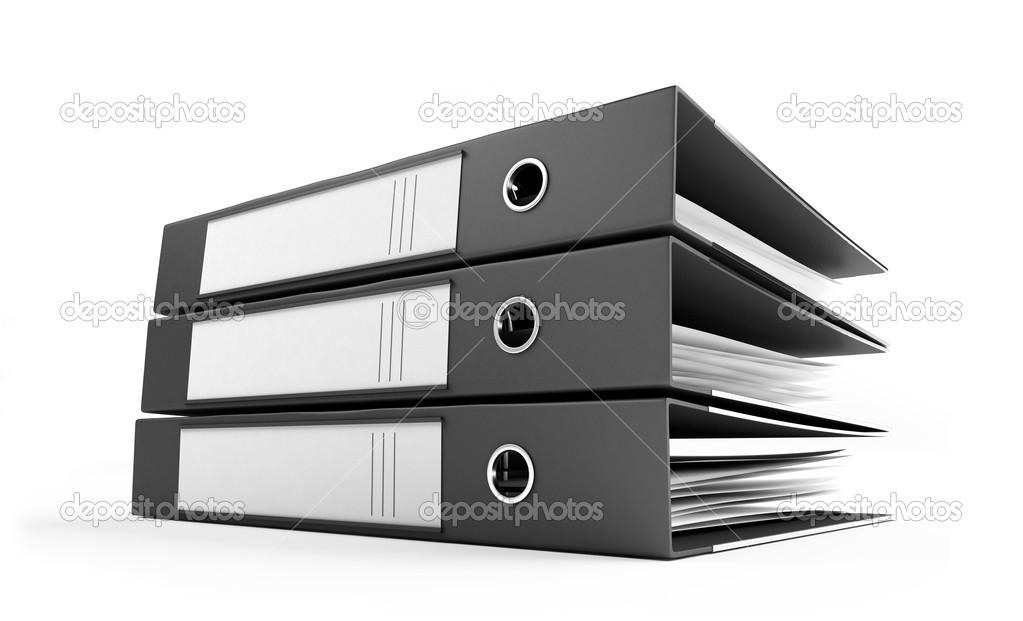 Office folders on a white background — Stock Photo #1052547