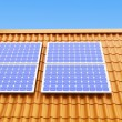 Stock Photo: Roof solar panels