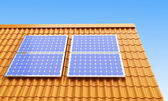 Roof solar panels — Stock Photo