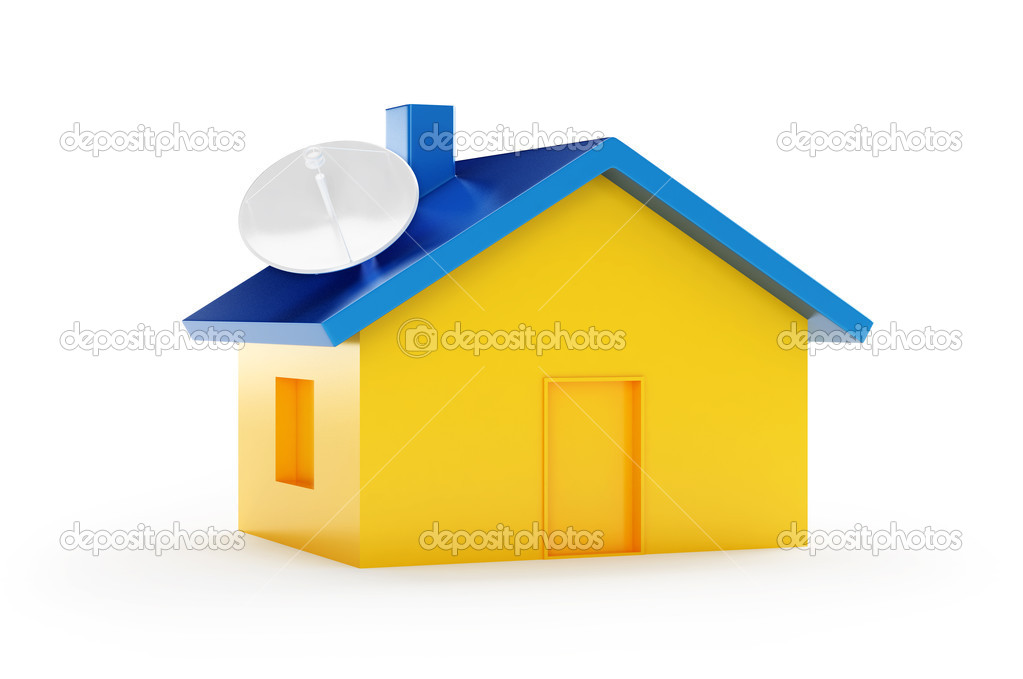 Antena house on a white background — Stock Photo #1083128