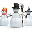 Snowmans on a white background — Stock Photo #2305915
