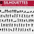 Royalty-Free Stock 矢量图片: 100 Silhouettes Collection Vol. 1