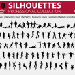 100 Silhouettes Collection Vol. 1 — Stock Vector