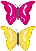 Two butterflies — Stock Vector