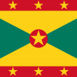 Grenada Flag - Stock vektor
