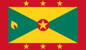 Grenada Flag — Stock Vector
