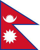 Nepal Flag — Stock Vector