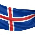 Iceland National Flag — Stock Photo