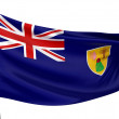 Stock Photo: Turks and Caicos Islands Flag