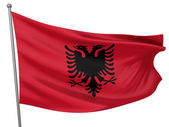 Albania National Flag — Stock Photo