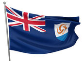 Anguilla National Flag — Stock Photo