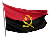 Angola National Flag — Stock Photo