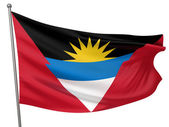 Antigua and Barbuda National Flag — Stock Photo