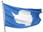 Antarctica Flag — Stock Photo