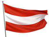 Austria National Flag — Stock Photo