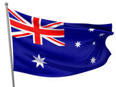 Australia National Flag — Stock Photo
