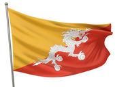 Bhutan National Flag — Stock Photo