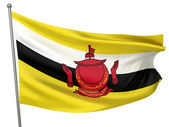 Brunei National Flag — Stock Photo