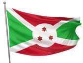 Burundi National Flag — Stock Photo