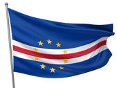 Cape Verde National Flag — Stock Photo