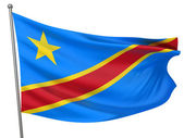 Congo, Democratic Republic Flag — Stock Photo