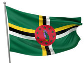 Dominica National Flag — Stock Photo