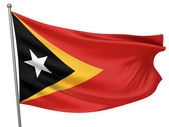 East Timor National Flag — Stock Photo