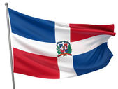 Dominican Republic National Flag — Stock Photo