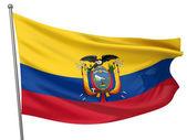 Ecuador National Flag — Stock Photo