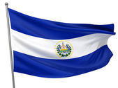 El Salvador National Flag — Stock Photo