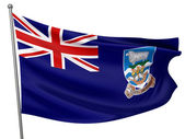 Falkland Islands National Flag — Stock Photo