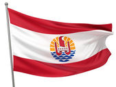 French Polynesia National Flag — Stock Photo