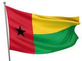 Guinea-Bissau National Flag — Stock Photo