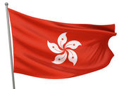 Hong Kong National Flag — Stock Photo