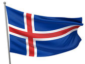 Iceland National Flag — Stock Photo