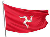 Isle of Man National Flag — Stock Photo